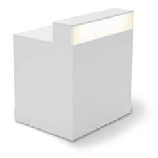 Theke White gerade mit Beleuchtung