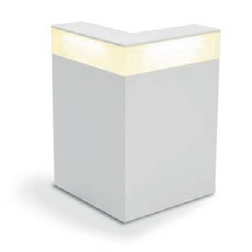 Theke White Eckmodul mit Beleuchtung